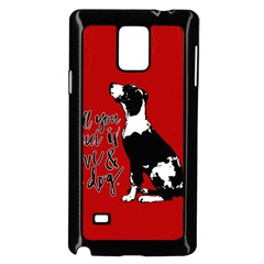 Dog person Samsung Galaxy Note 4 Case (Black)
