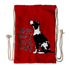 Dog person Drawstring Bag (Large)