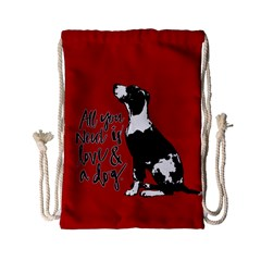 Dog person Drawstring Bag (Small)