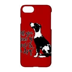 Dog person Apple iPhone 7 Hardshell Case