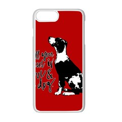 Dog person Apple iPhone 7 Plus White Seamless Case