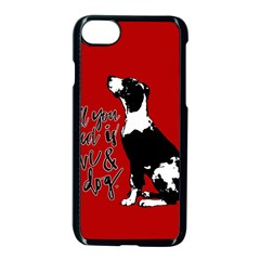 Dog person Apple iPhone 7 Seamless Case (Black)