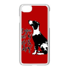 Dog person Apple iPhone 7 Seamless Case (White)