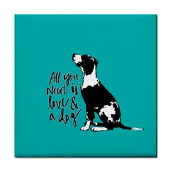 Dog person Tile Coasters