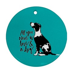 Dog person Ornament (Round)
