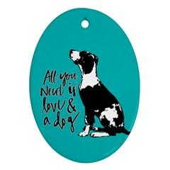 Dog person Ornament (Oval)