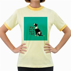 Dog person Women s Fitted Ringer T-Shirts