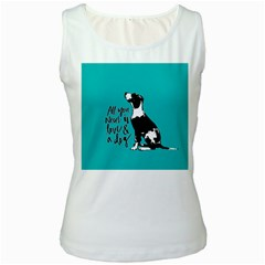Dog person Women s White Tank Top