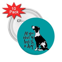 Dog person 2.25  Buttons (10 pack)