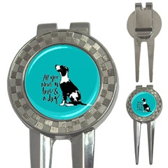 Dog person 3-in-1 Golf Divots