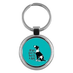 Dog person Key Chains (Round)