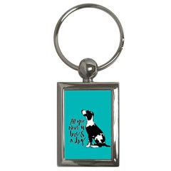 Dog person Key Chains (Rectangle)