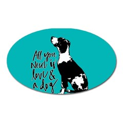 Dog person Oval Magnet