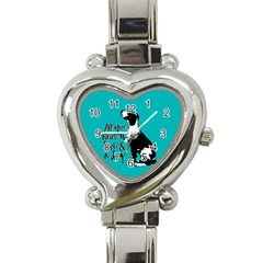 Dog person Heart Italian Charm Watch