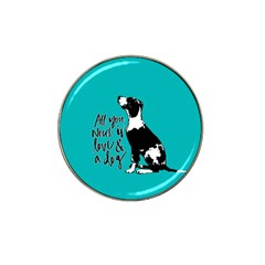 Dog person Hat Clip Ball Marker (4 pack)