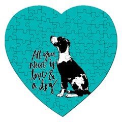 Dog person Jigsaw Puzzle (Heart)