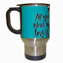 Dog person Travel Mugs (White)