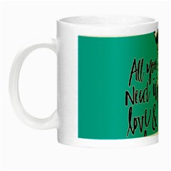 Dog person Night Luminous Mugs