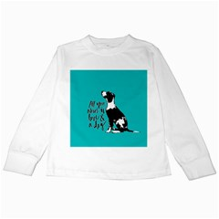 Dog person Kids Long Sleeve T-Shirts