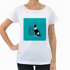 Dog person Women s Loose-Fit T-Shirt (White)