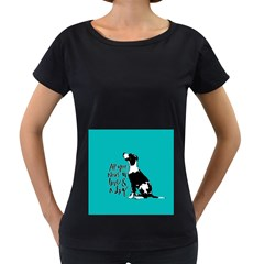 Dog person Women s Loose-Fit T-Shirt (Black)