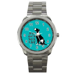 Dog person Sport Metal Watch