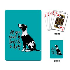 Dog person Playing Card