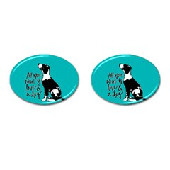 Dog person Cufflinks (Oval)