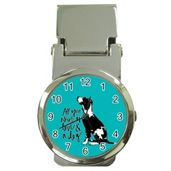 Dog person Money Clip Watches