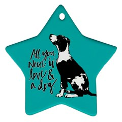 Dog person Star Ornament (Two Sides)