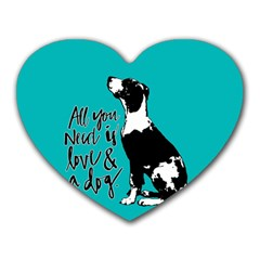 Dog person Heart Mousepads