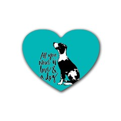Dog person Heart Coaster (4 pack)