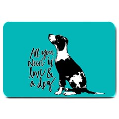 Dog person Large Doormat
