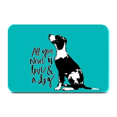 Dog person Plate Mats