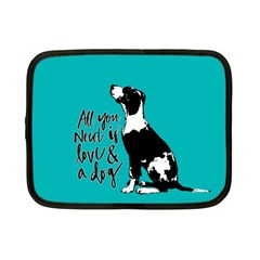 Dog person Netbook Case (Small)