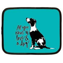 Dog person Netbook Case (Large)