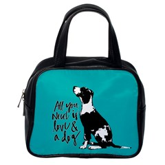Dog person Classic Handbags (One Side)