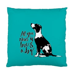 Dog person Standard Cushion Case (One Side)