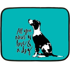 Dog person Fleece Blanket (Mini)