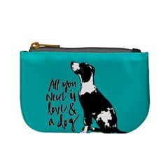 Dog person Mini Coin Purses
