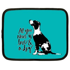 Dog person Netbook Case (XXL)