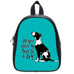 Dog person School Bags (Small)