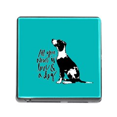 Dog person Memory Card Reader (Square)