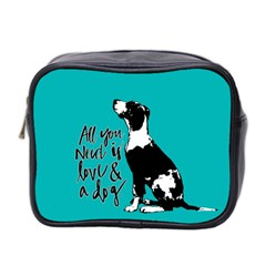 Dog person Mini Toiletries Bag 2-Side