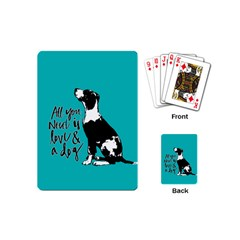 Dog person Playing Cards (Mini)