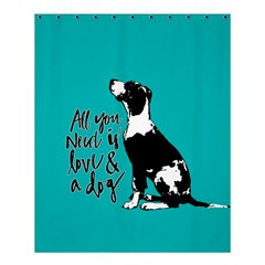 Dog person Shower Curtain 60  x 72  (Medium)