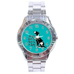Dog person Stainless Steel Analogue Watch