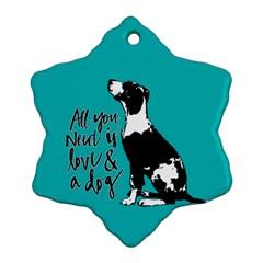 Dog person Ornament (Snowflake)