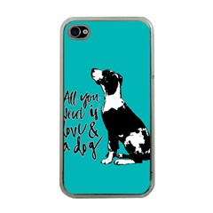 Dog person Apple iPhone 4 Case (Clear)