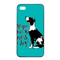 Dog person Apple iPhone 4/4s Seamless Case (Black)
